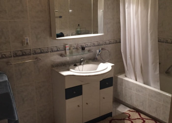 old bathroom look sink before renovation