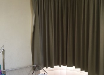old look balcony curtain