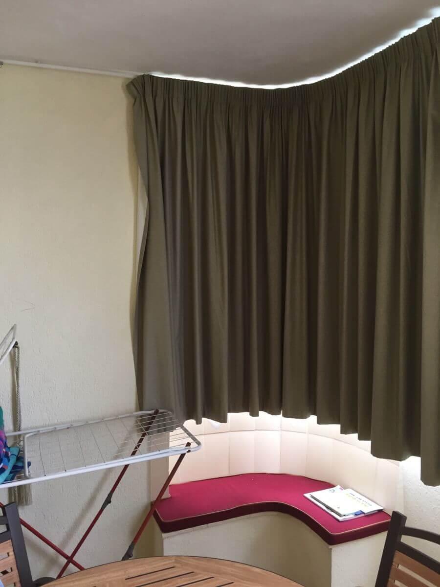 old look balcony curtain